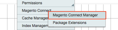 Go to System → Magento Connect → Magento     Connect Manager