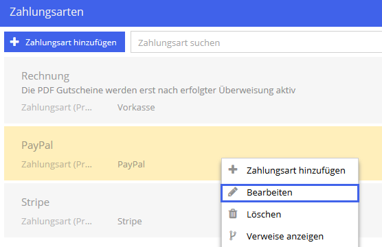 Zahlungsmethode Paypal