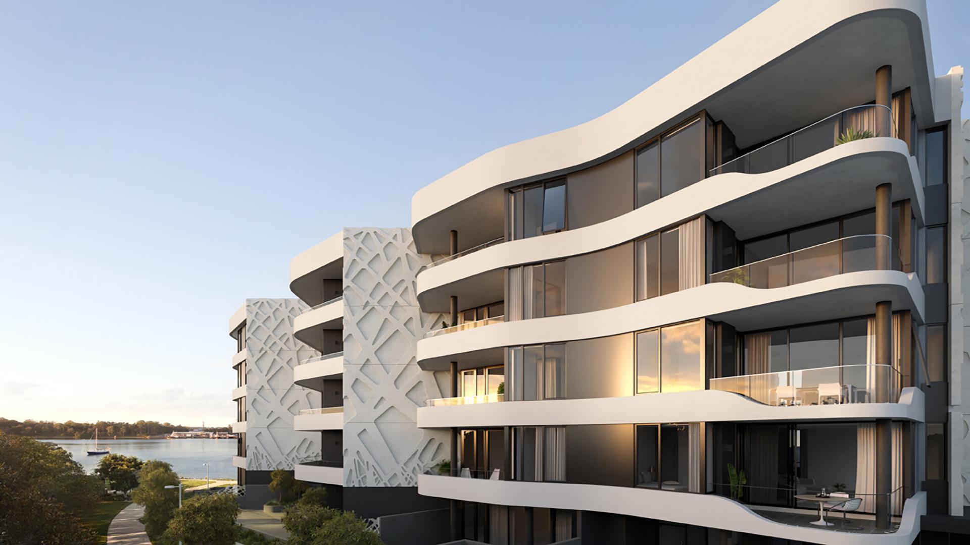 Newport apartment complex at Hamilton Reach