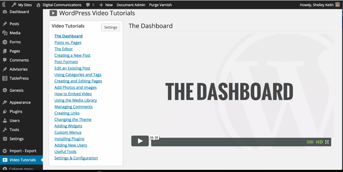 View the WP101 Video Tutorials